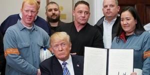 川普簽署命令對進口鋼鋁課關稅 加墨暫豁免 15天後生效